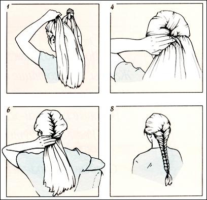Такой способ плетения косы обеспечивает отражение света по всем направлениям, создавая...  1. Уберите все волосы...