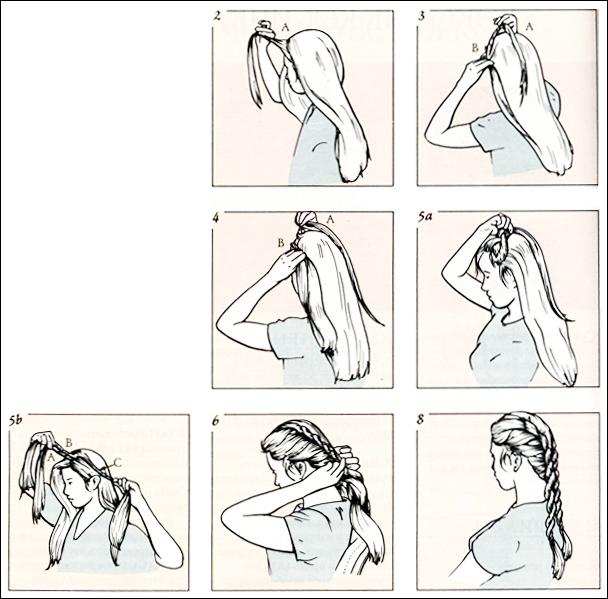 Как сделать бант из волос до плеч видео.