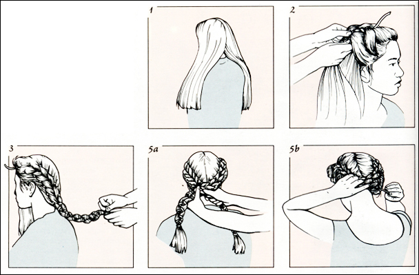 Прически для длинных волос (10 видов косичек) .